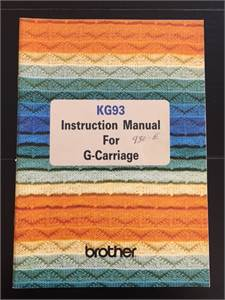 Instruction Manual - G- Carriage  KG 93